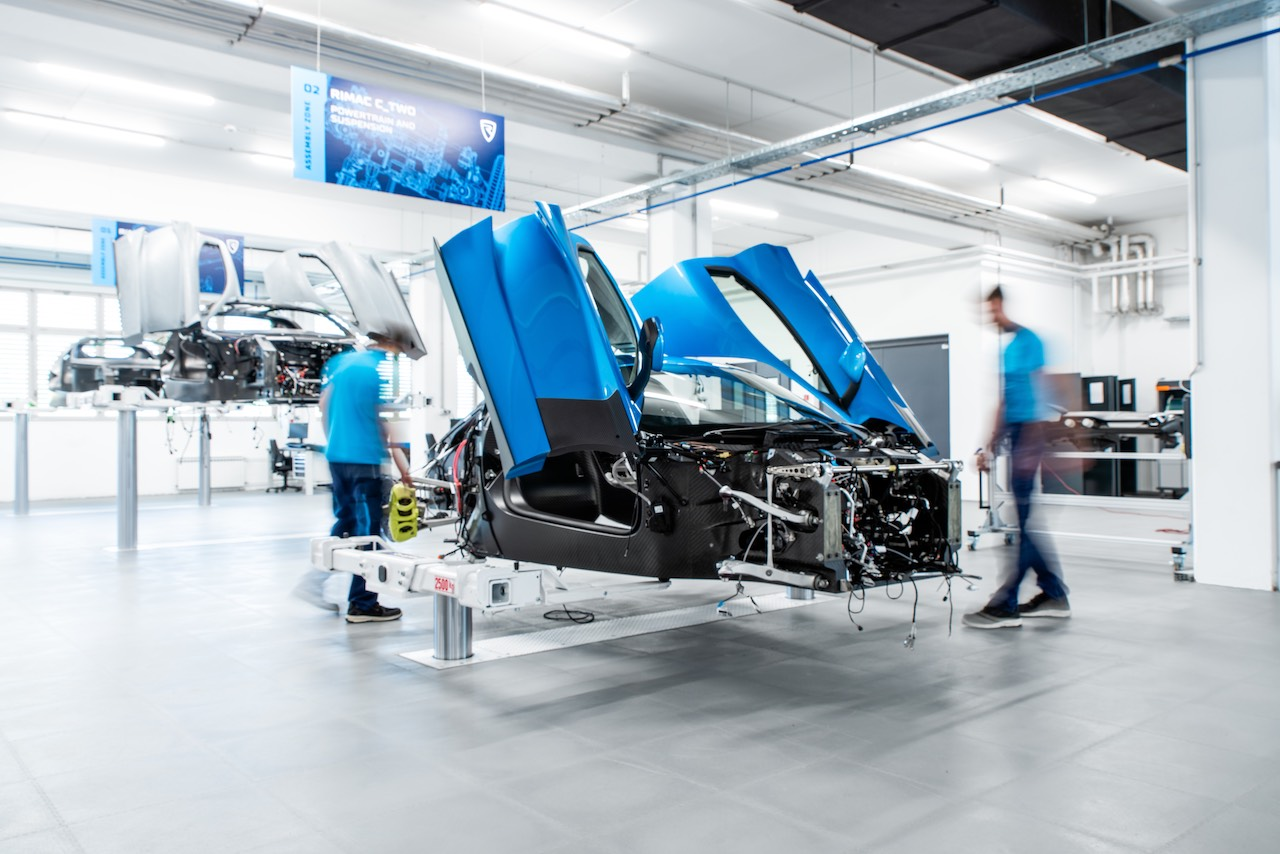Rimac reveals new production line as C_Two Prototype production accelerates