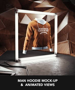 Women Hoodie Mock-up / Animated Mock-up