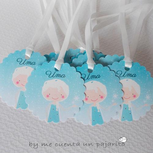 Etiquetas de la fiesta de cumpleaños de la princesa Elsa de Frozen