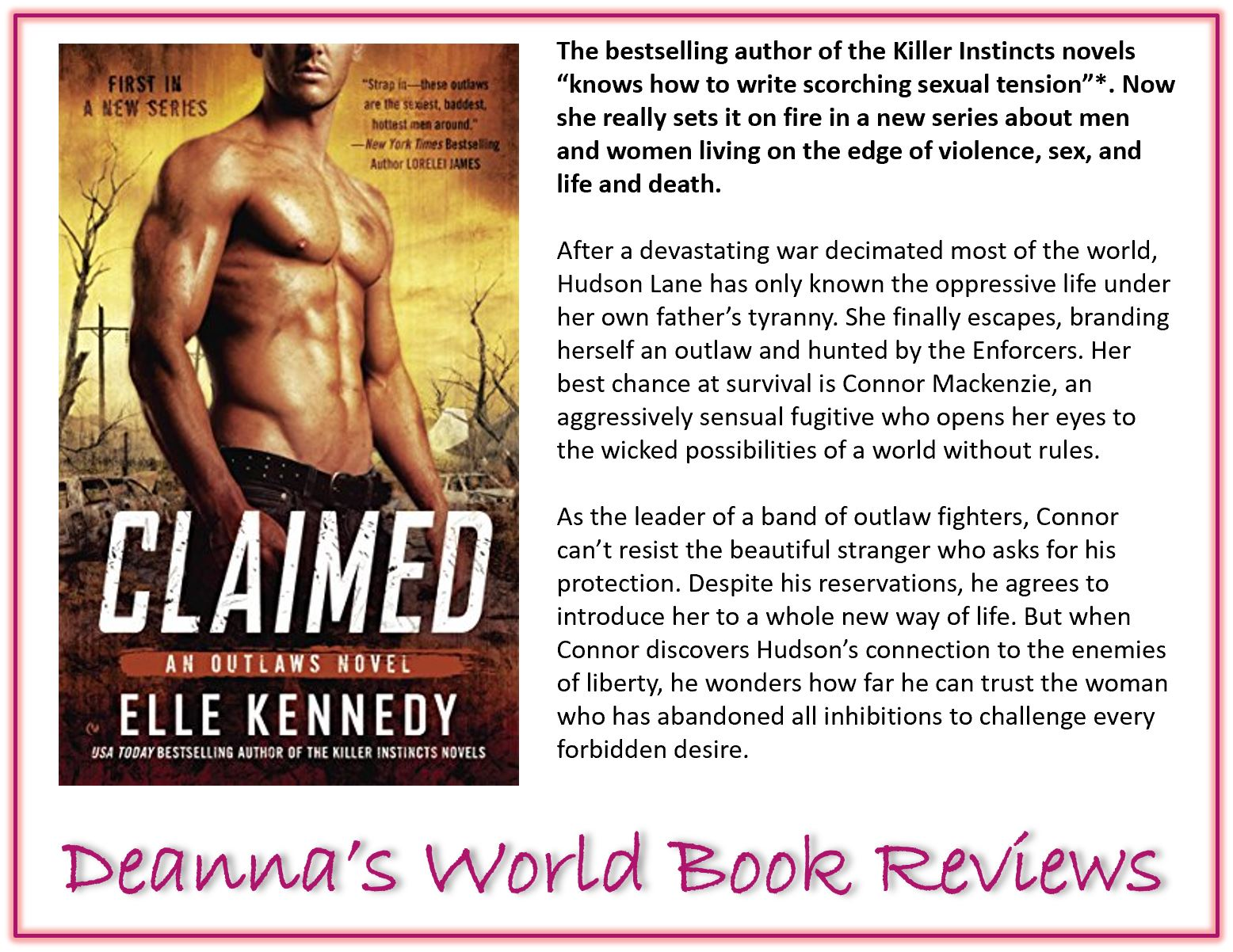 Claimed by Elle Kennedy blurb