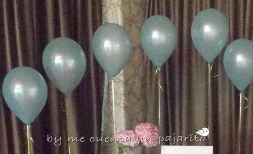 Globos azules del bautizo de Iñigo