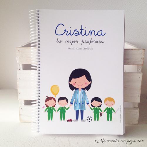 Cuaderno A5 personalizado  regalo profesora profesor