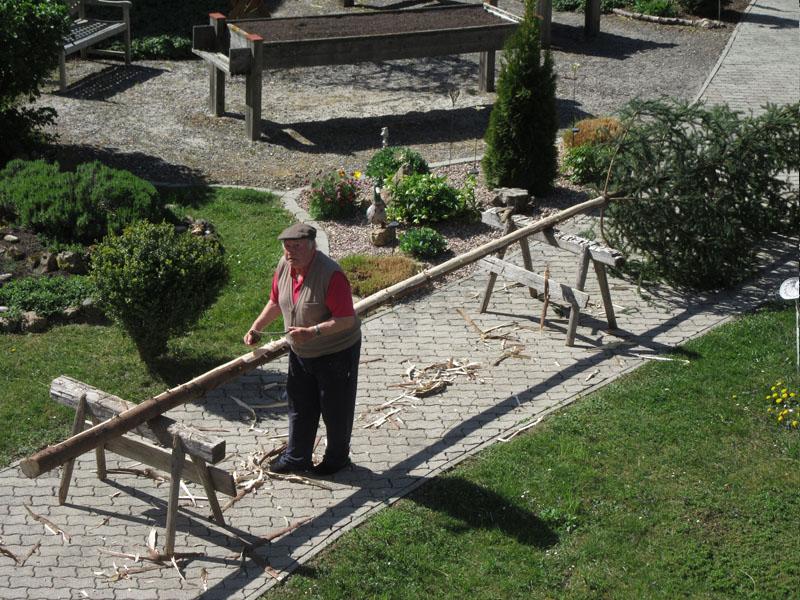 Karl beim Maibaum entrinden Bild 7