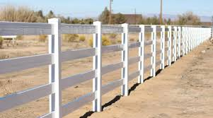 Image of ranch style vinyl fence in arizona