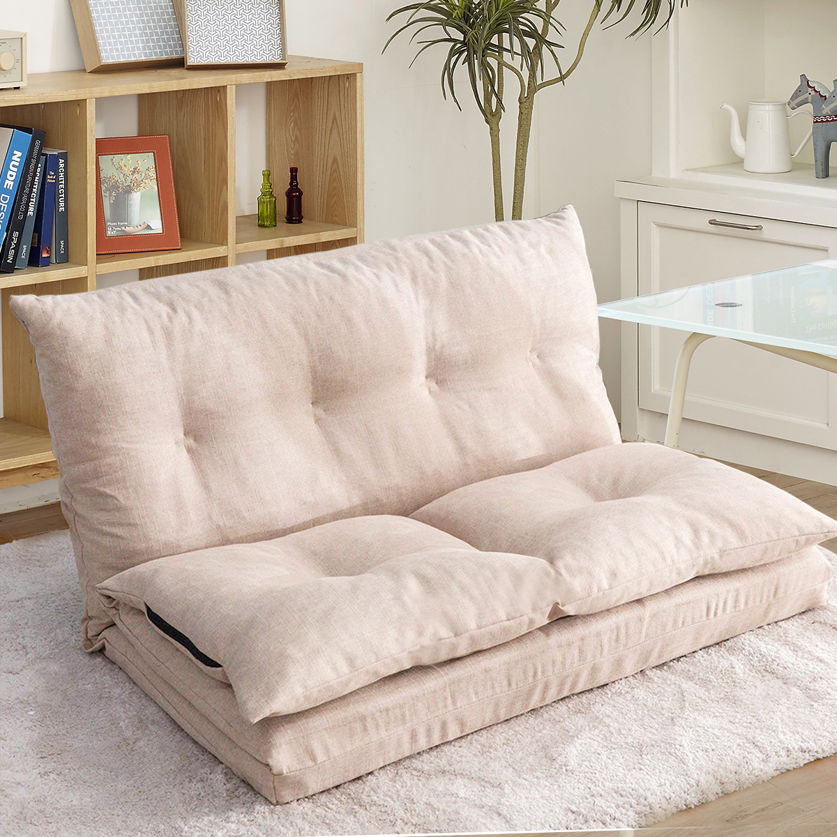 Adjustable Fabric Folding Chaise Lounge Chair
