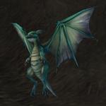 Pískle zeleného draka
