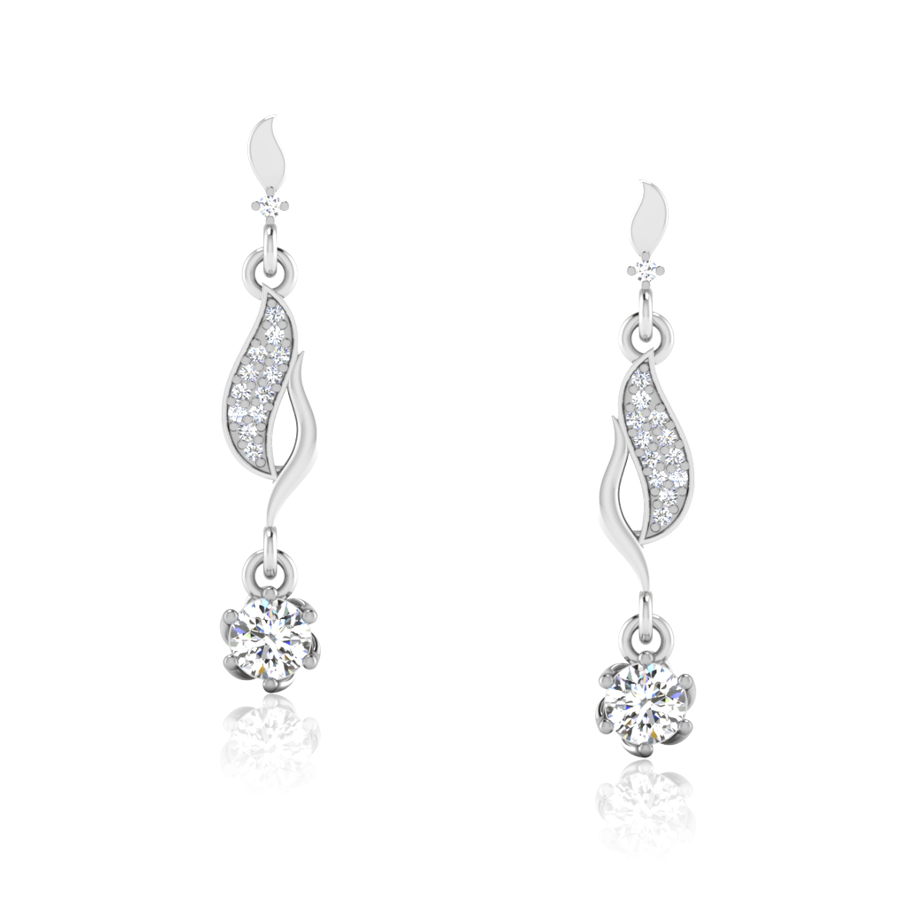 The Rassin Solitaire Drop Earrings