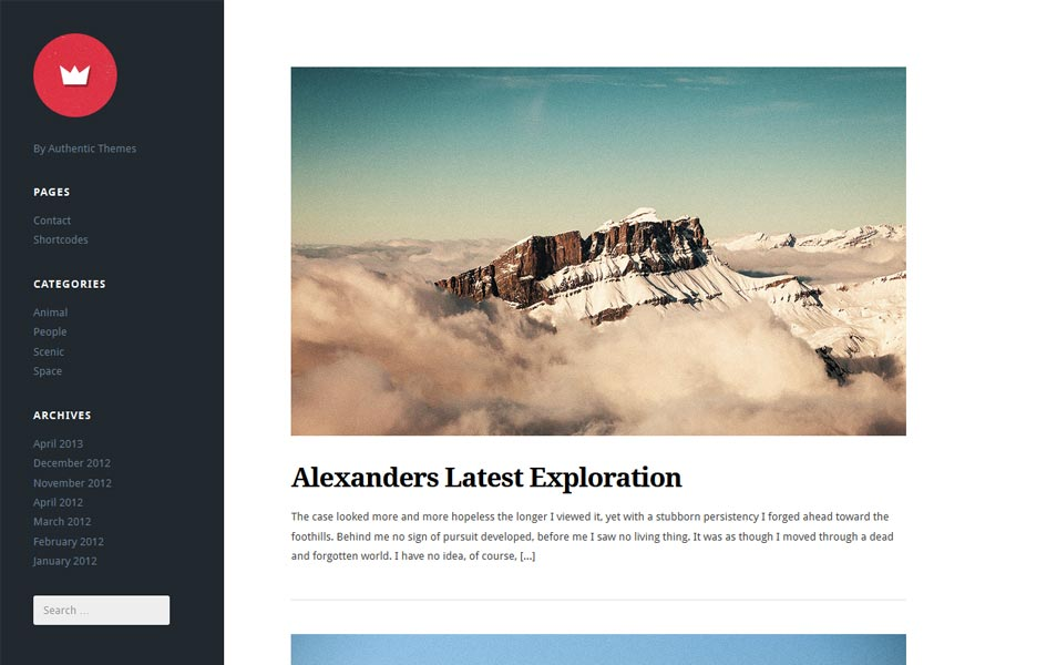 lefty - free wordpress theme