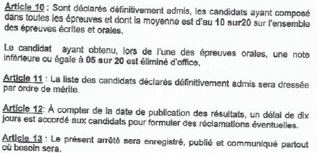 Examens Brevet d'aptitude professionnelle n° 1 et 2 concourspolice-ci.net 2018-2019