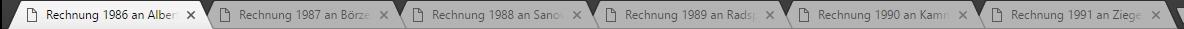 Im Google Chrome erhält jede PDF-Datei eine eigene Registerkarte.