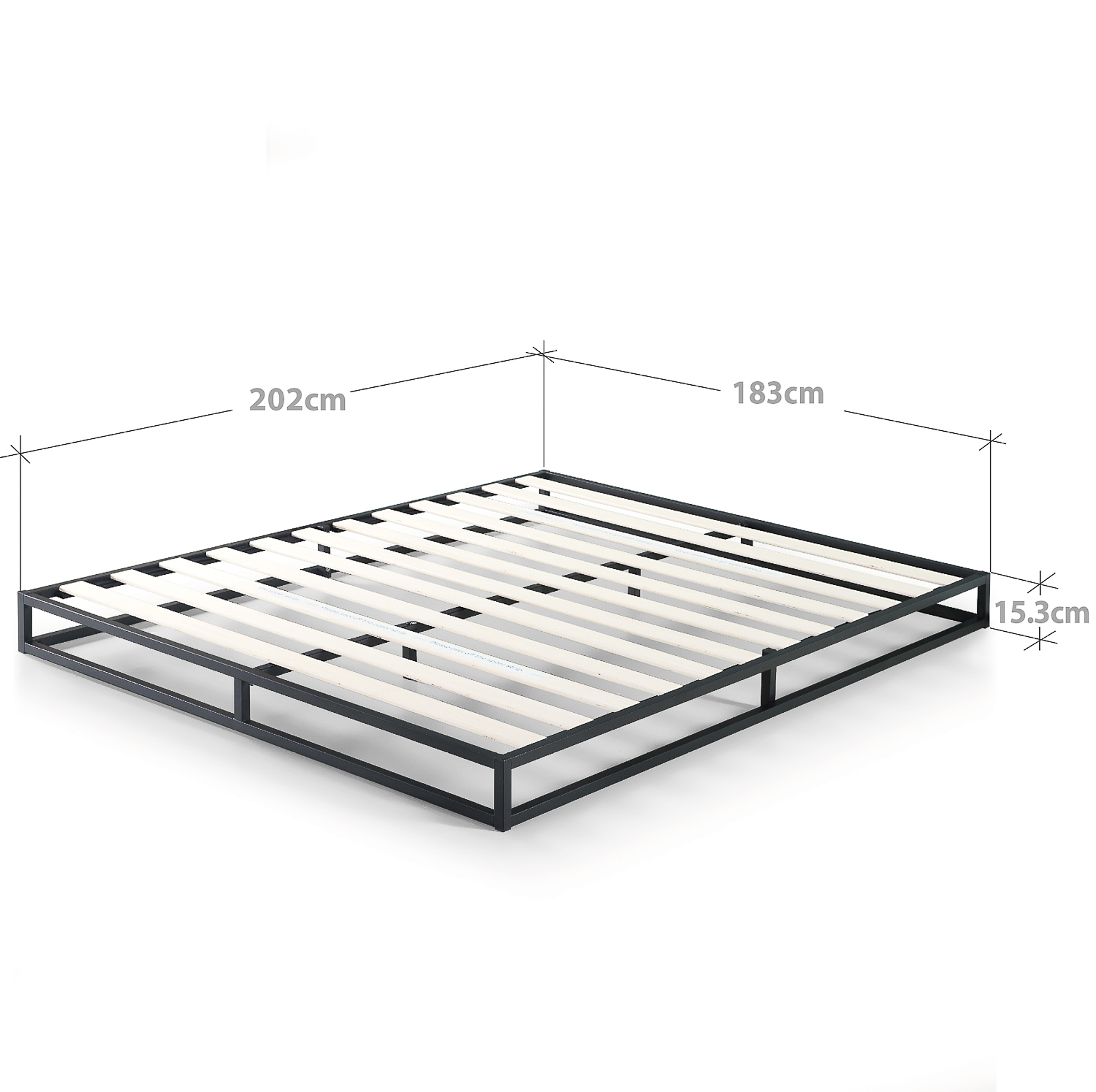 Zinus-Joesph-SINGLE-DOUBLE-QUEEN-KING-Metal-Low-Bed-Base-Mattress-Frame-Timber thumbnail 33
