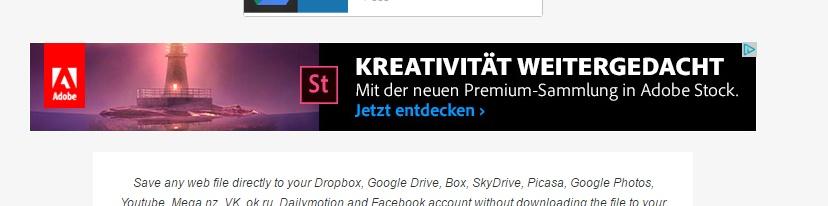 Banner-Werbung, die mich anspricht - da ich für meine Werbung auch Grafiken externer Seite verwende.