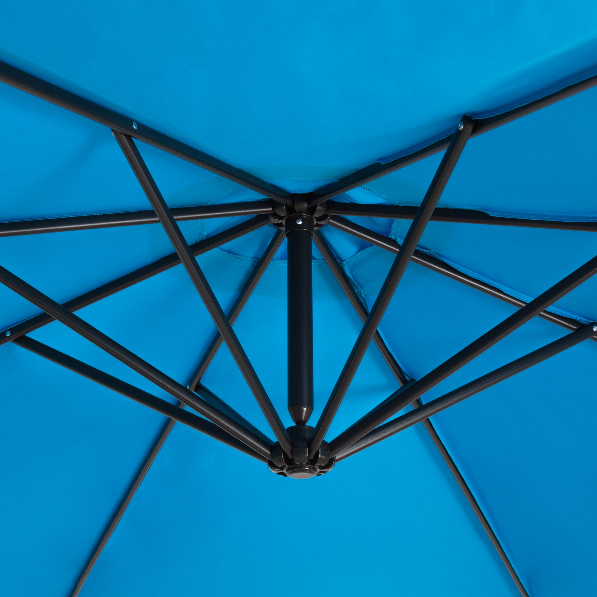 BCP-10ft-Offset-Hanging-Market-Patio-Umbrella-w-Tilt-Adjustment-Hand-Crank thumbnail 16