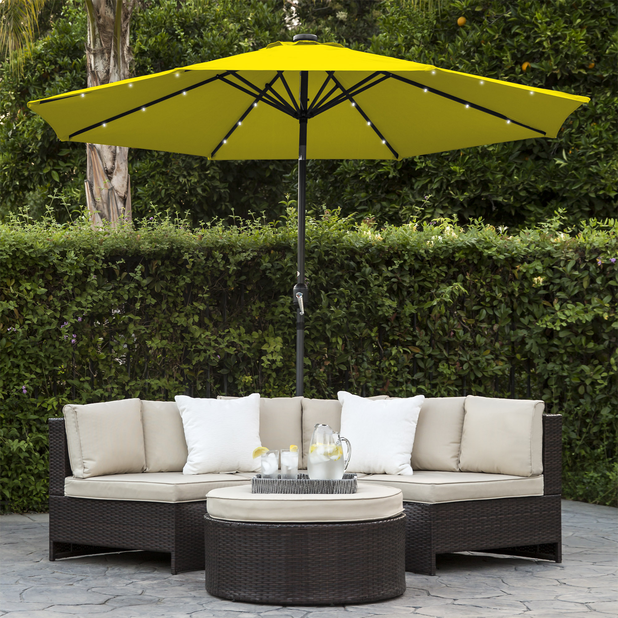 BCP-10ft-Solar-LED-Lighted-Patio-Umbrella-w-Tilt-Adjustment-Fade-Resistance thumbnail 78