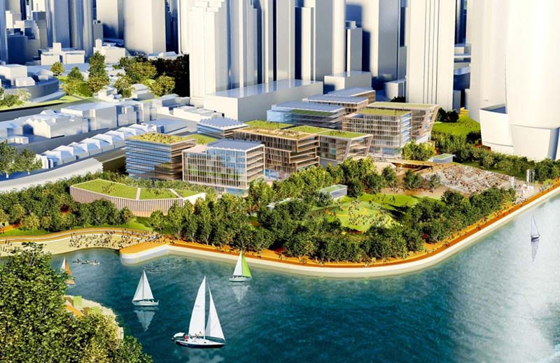 Central Barangaroo development area balloons