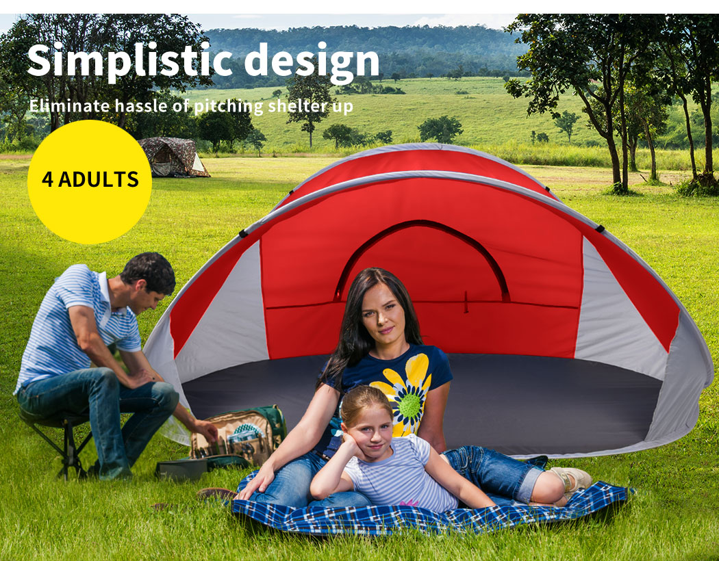 Mountvie-Pop-Up-Tent-Camping-Beach-Tents-4-Person-Portable-Hiking-Shade-Shelter thumbnail 38