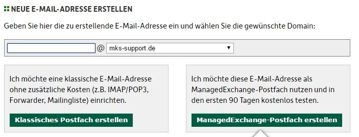Zu einer bestehenden Domain lassen sich meist kurzerhand zusätzliche Mail-Adressen erstellen.