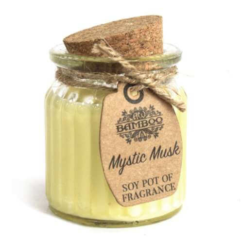 2x soy wax candle pot - mystic musk