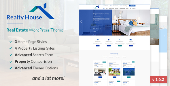 Realty House - Responsive Real Estate WordPress Theme