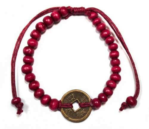 good luck feng shui bracelet - red
