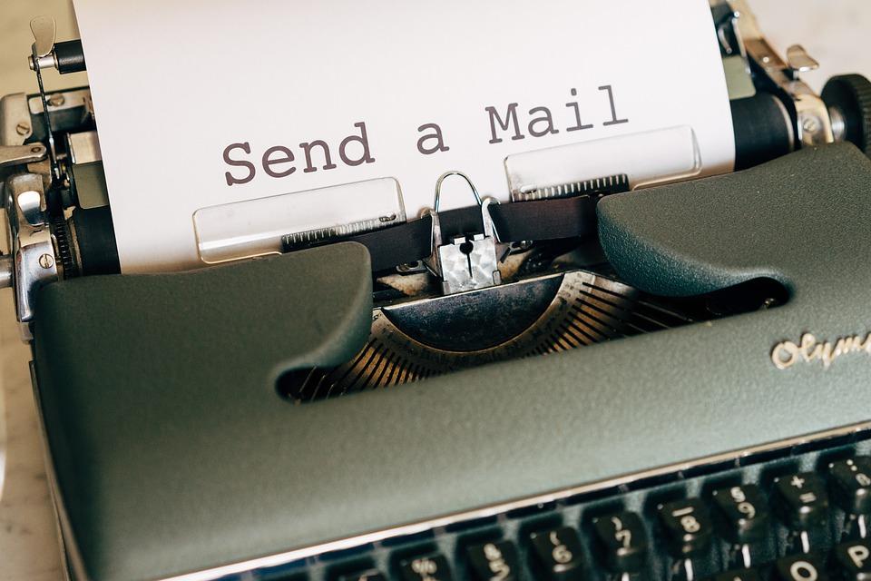 Send a mail on typewriter