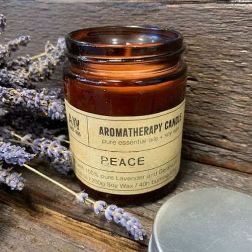 aromatherapy soy wax candle - peace
