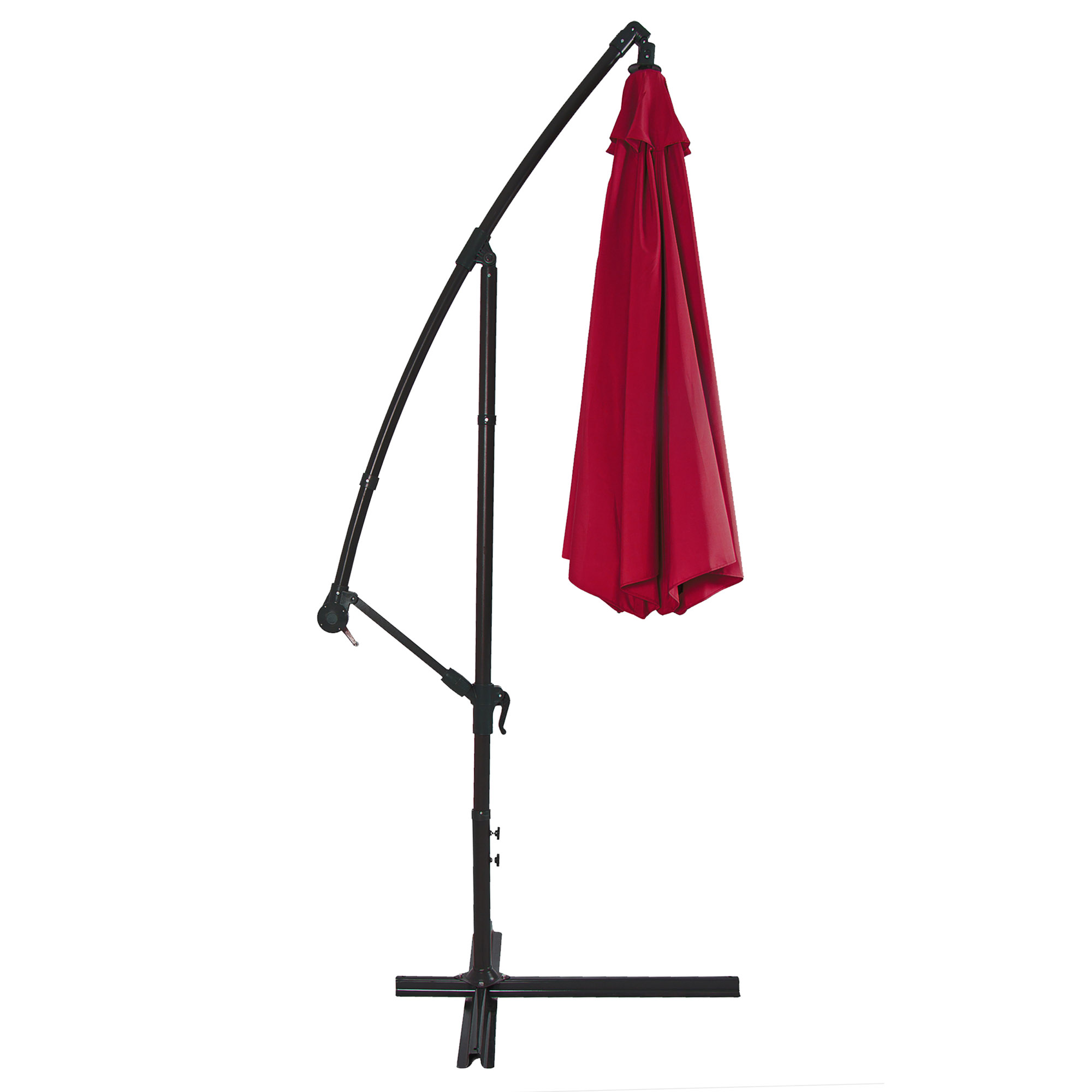 BCP-10ft-Offset-Hanging-Market-Patio-Umbrella-w-Tilt-Adjustment-Hand-Crank thumbnail 39