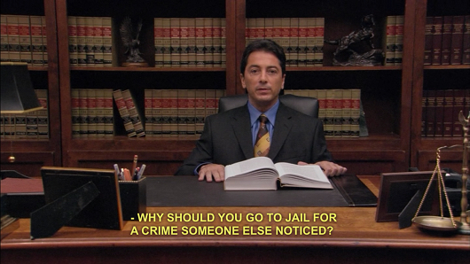 Bob Loblaw: Why should you go to jail for a crime someone else noticed?