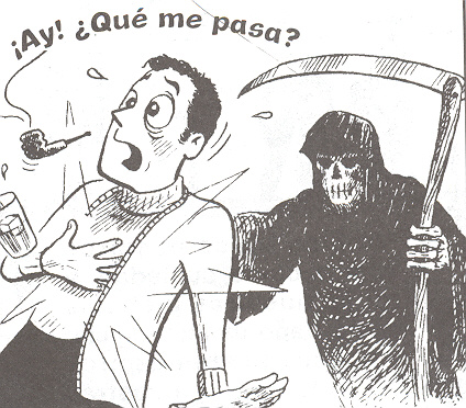 Image: ¡Ay! ¿Qué me pasa? The Reaper takes another unsuspecting (albeit Spanish) soul