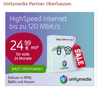 Banner-Werbung auf meiner eigenen Seite zum Thema Unitymedia - für eine gewünschte Bestellung oder mehr Infos zu den Produkten.