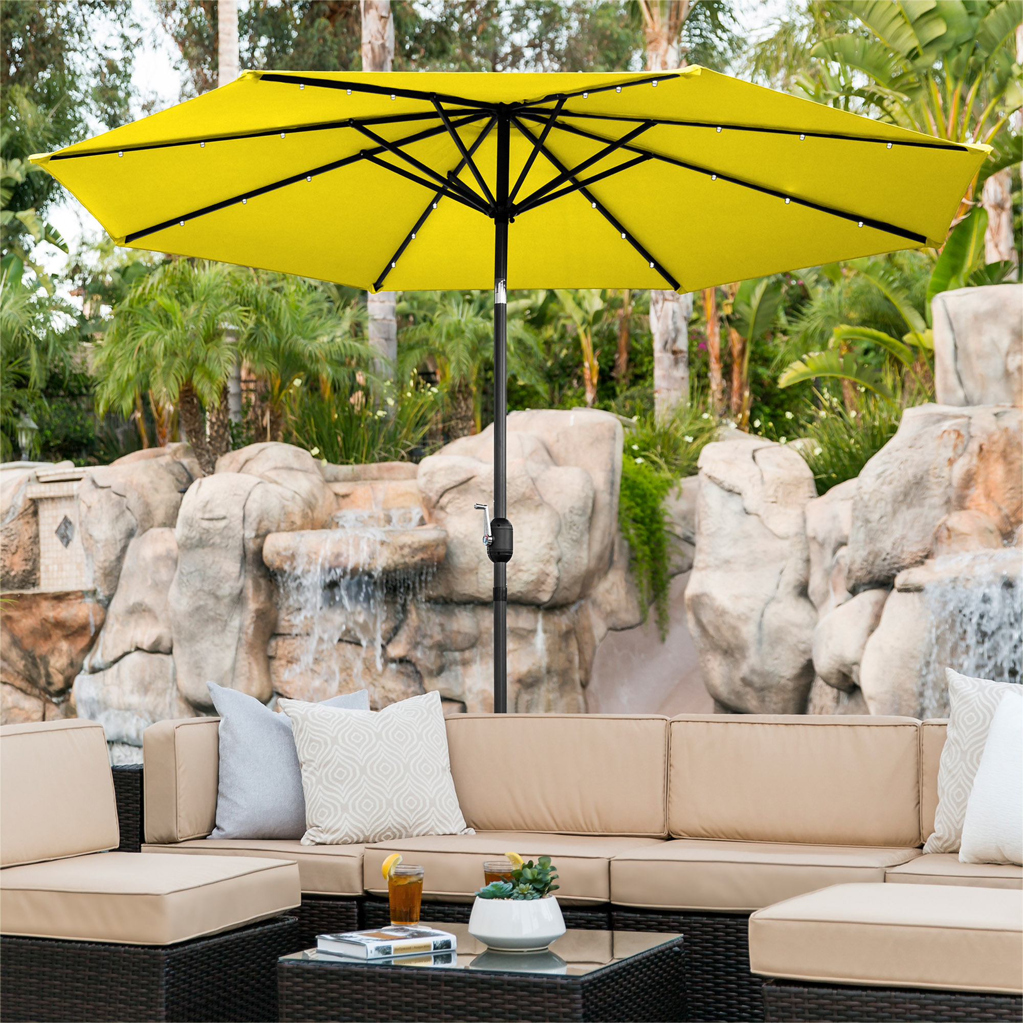 BCP-10ft-Solar-LED-Lighted-Patio-Umbrella-w-Tilt-Adjustment-Fade-Resistance thumbnail 79