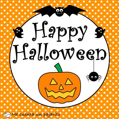 Happy Halloween, fantasma, murcielago, araña, calabaza