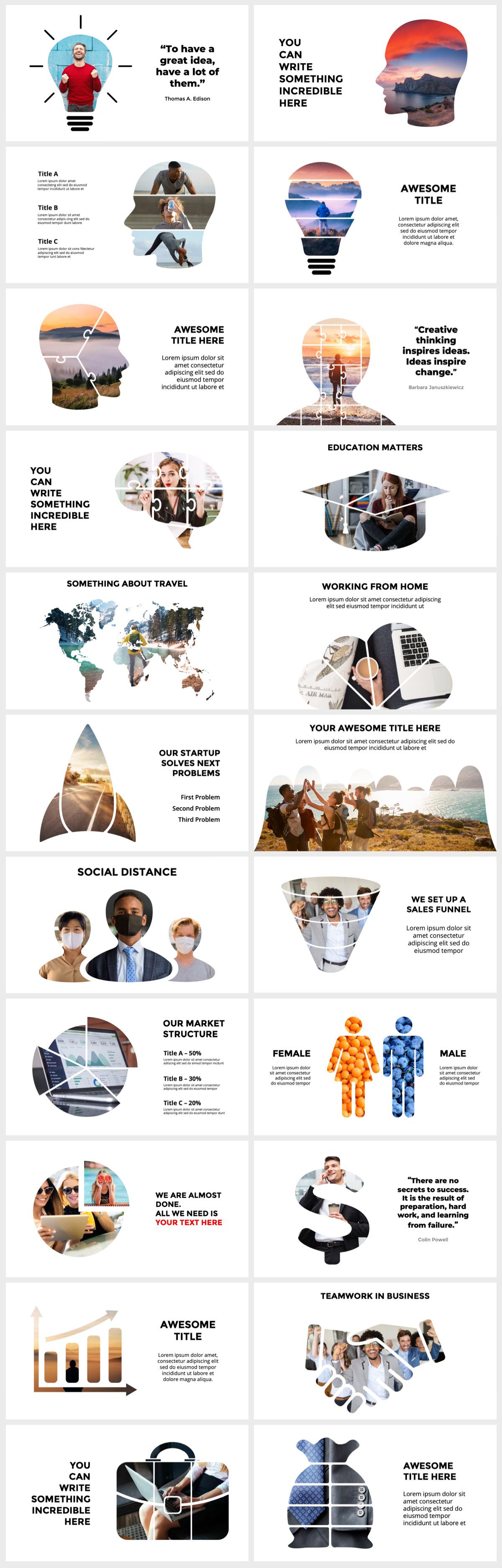 Huge Infographics Bundle! Lifetime Updates! PowerPoint, Photoshop, Illustrator. - 133