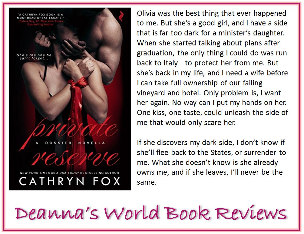 Private Reserve by Cathryn Fox blurb