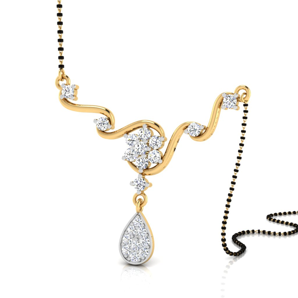 The Tanushri Curl Diamond Mangalsutra