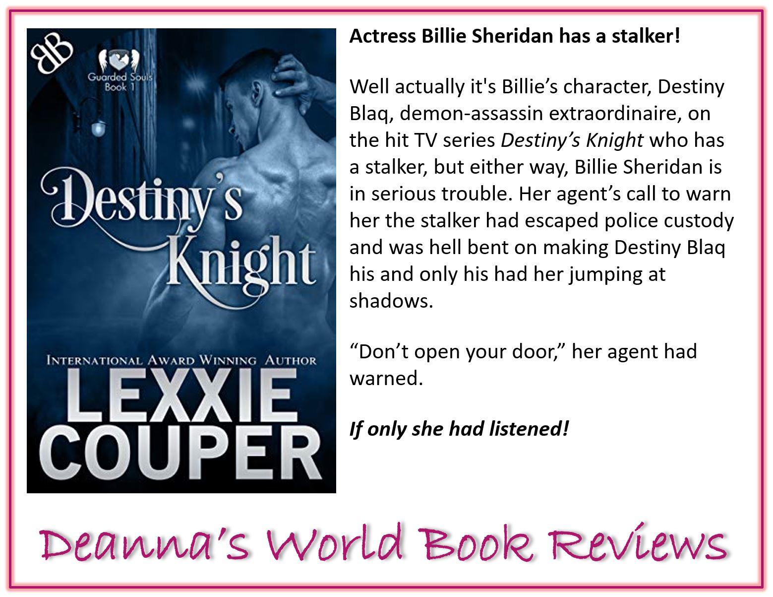 Destiny's Knight by Lexxie Couper blurb