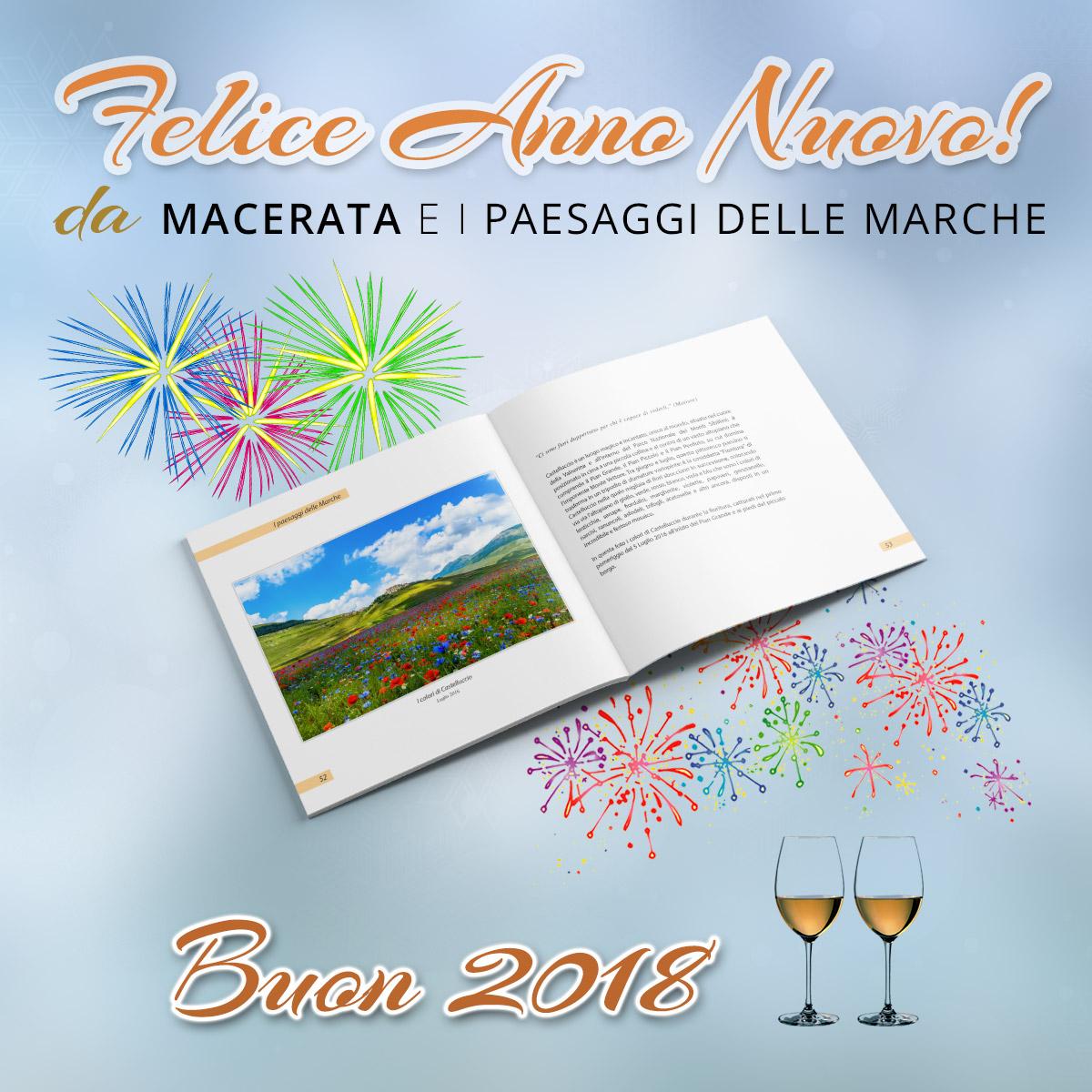 Buon 2018 da Macerata e i paesaggi delle Marche