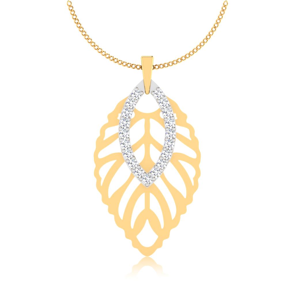 The Leaf Lattice Diamond Pendant