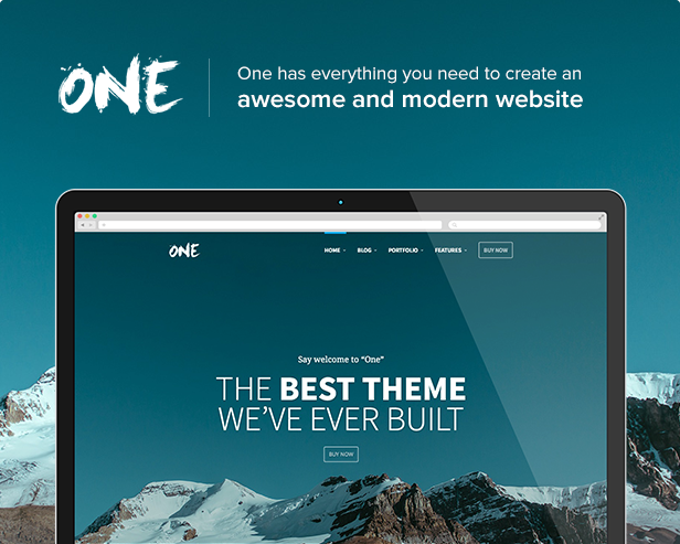 One - The Creative Multipurpose Portfolio theme - 1