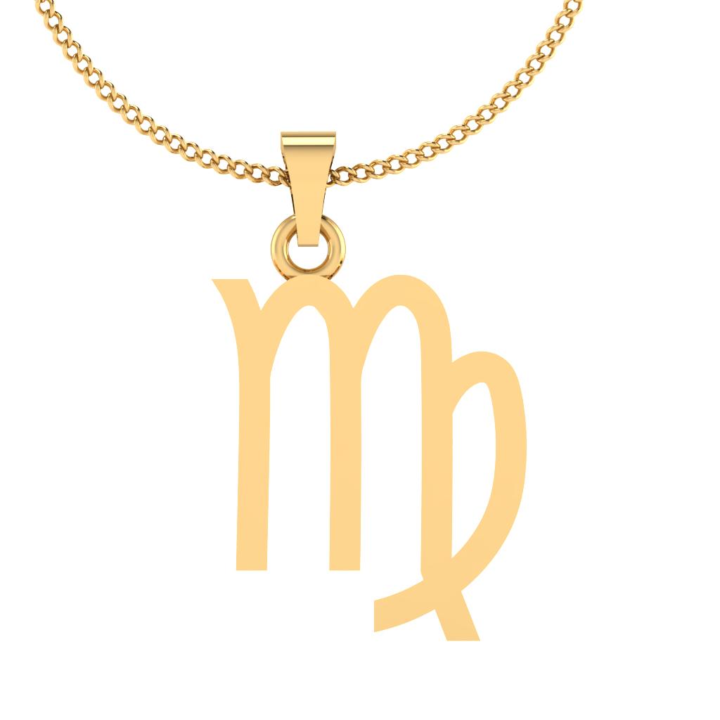 The Kanya Rashi Gold Pendant