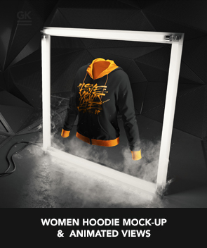 Women T-shirt Mock-up / Animated Mock-up
