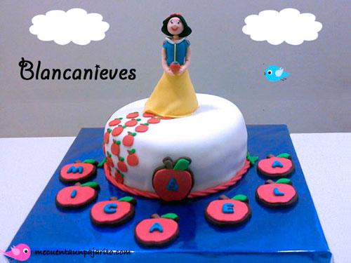 kit fiesta personalizada de cumpleaños de Blancanieves, tarta de cumpleaños