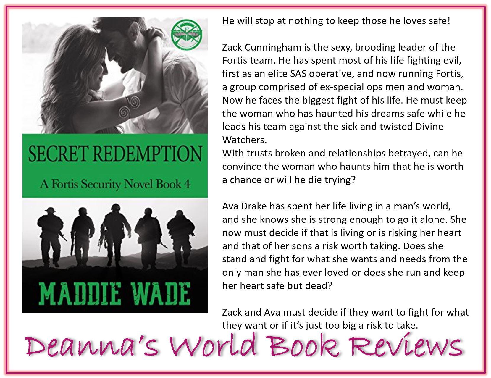 Secret Redemption by Maddie Wade blurb
