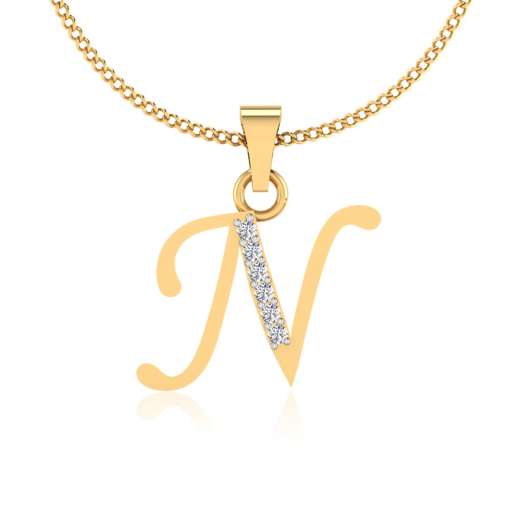 The Classy N Diamond Pendant
