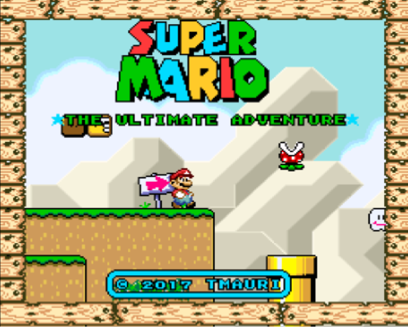 Super Mario: The ultimate adventure (WIP) Tittlescreen