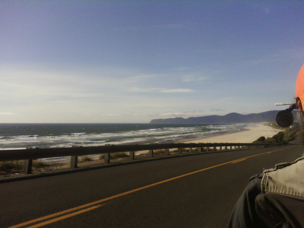 View of ocean from the road