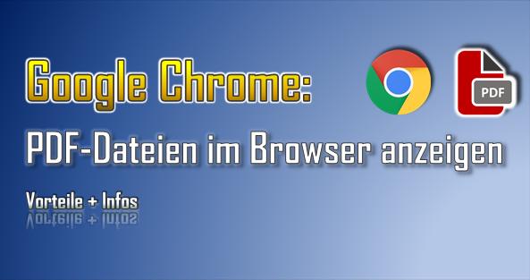 Im Google Chrome lassen sich PDF-Dateien mit einfachen Funktionen betrachten.