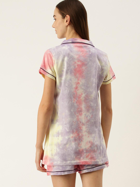Slumber Jill Multi Collar Shorts set