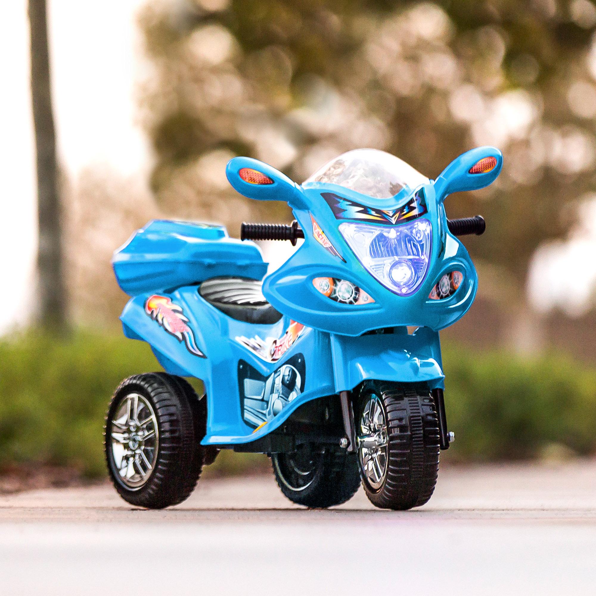 BCP-6V-Kids-3-Wheel-Motorcycle-Ride-On-Toy-w-LED-Lights-Music-Storage thumbnail 14