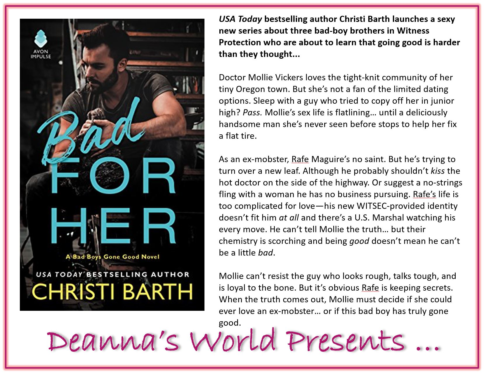 Bad For Her by Christi Barth blurb
